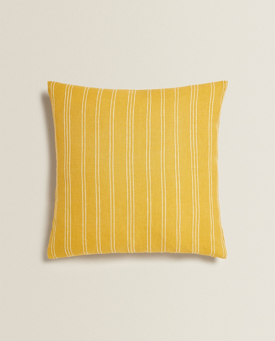 STRIPED LINEN THROW PILLOW