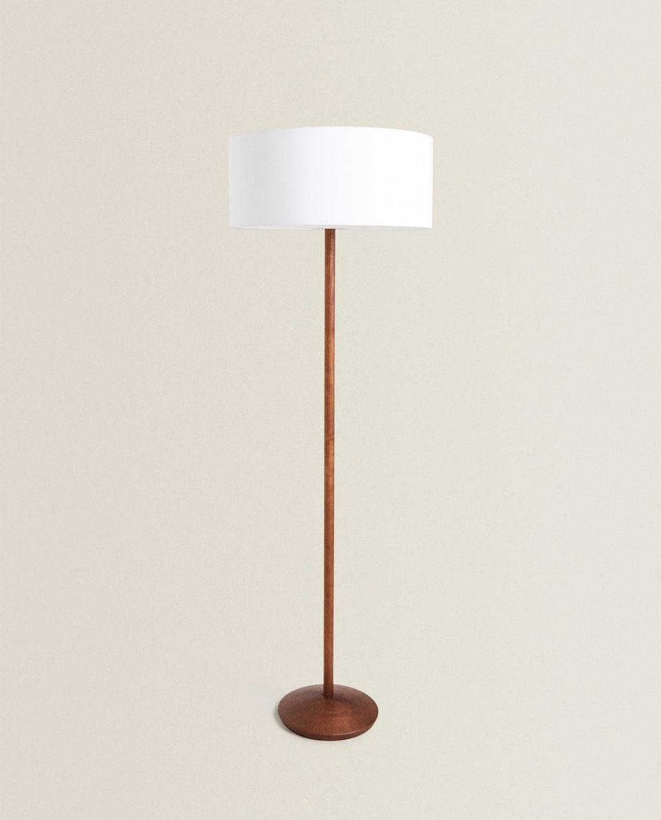 LAMPE PIED ABAT-JOUR LIN