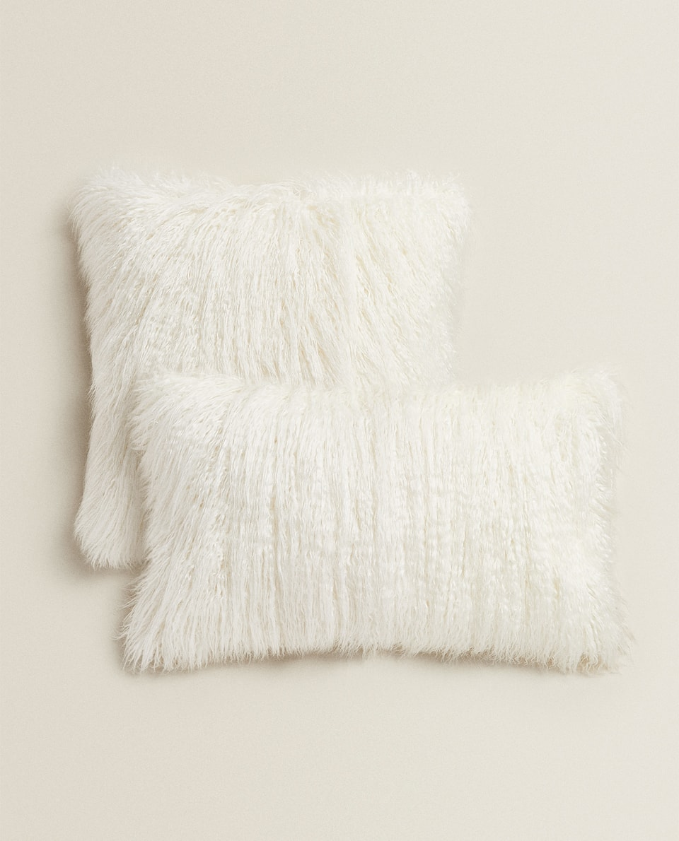 LONG FUR CUSHION COVER