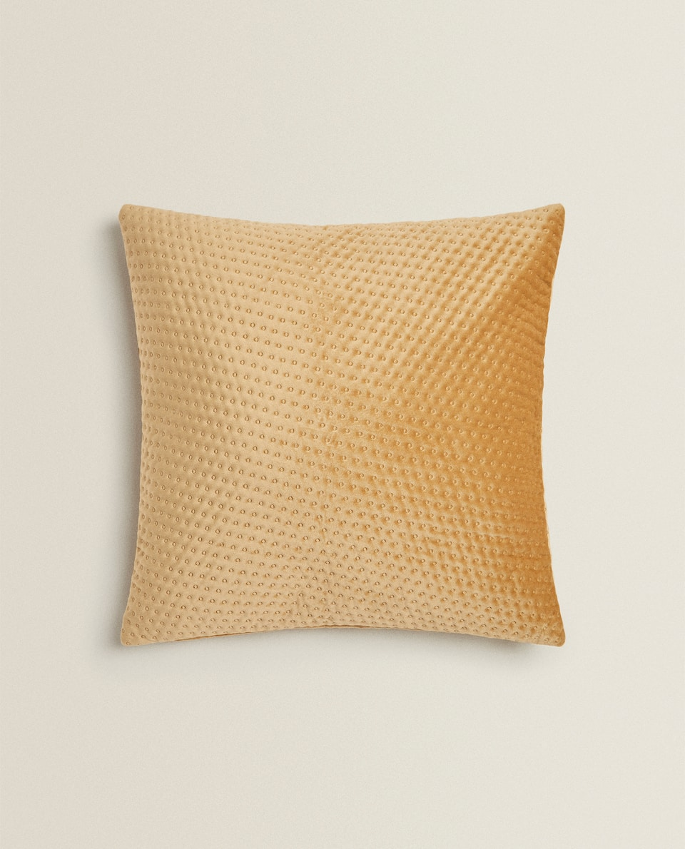 TEXTURED VELVET CUSHION COVER