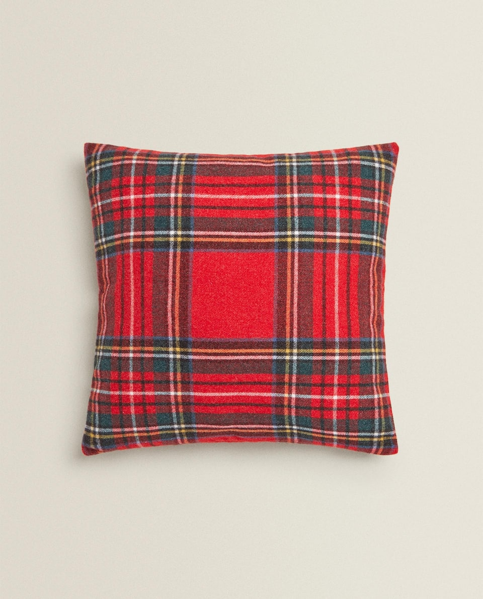 CHECK CHRISTMAS CUSHION COVER
