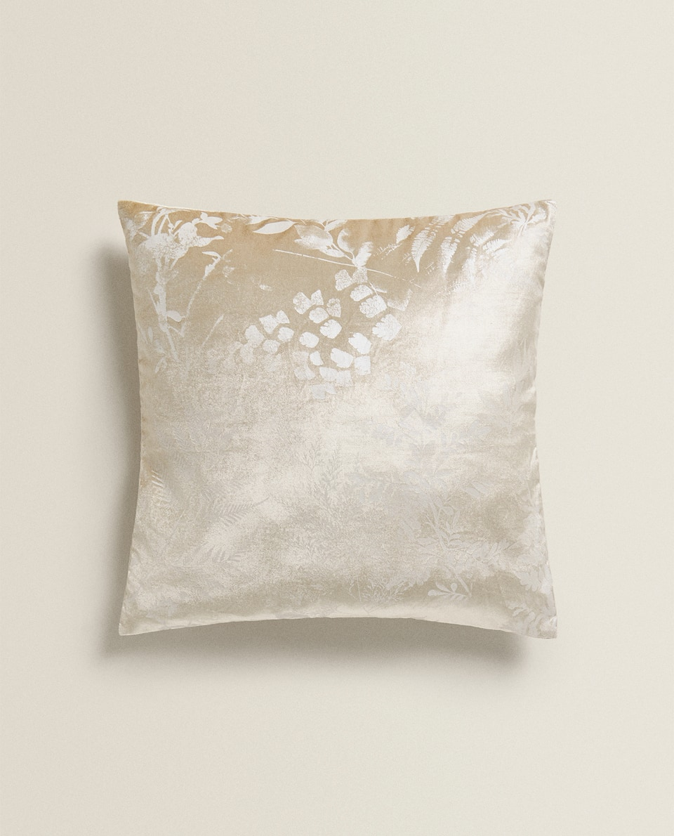 LEAF PRINT THROW PILLOW
