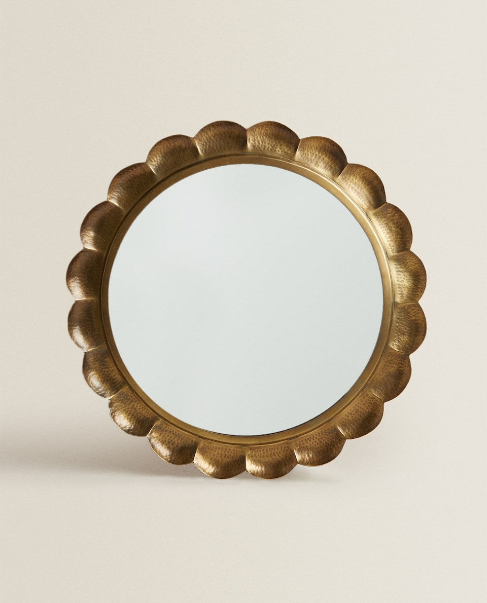BRASS METAL MIRROR