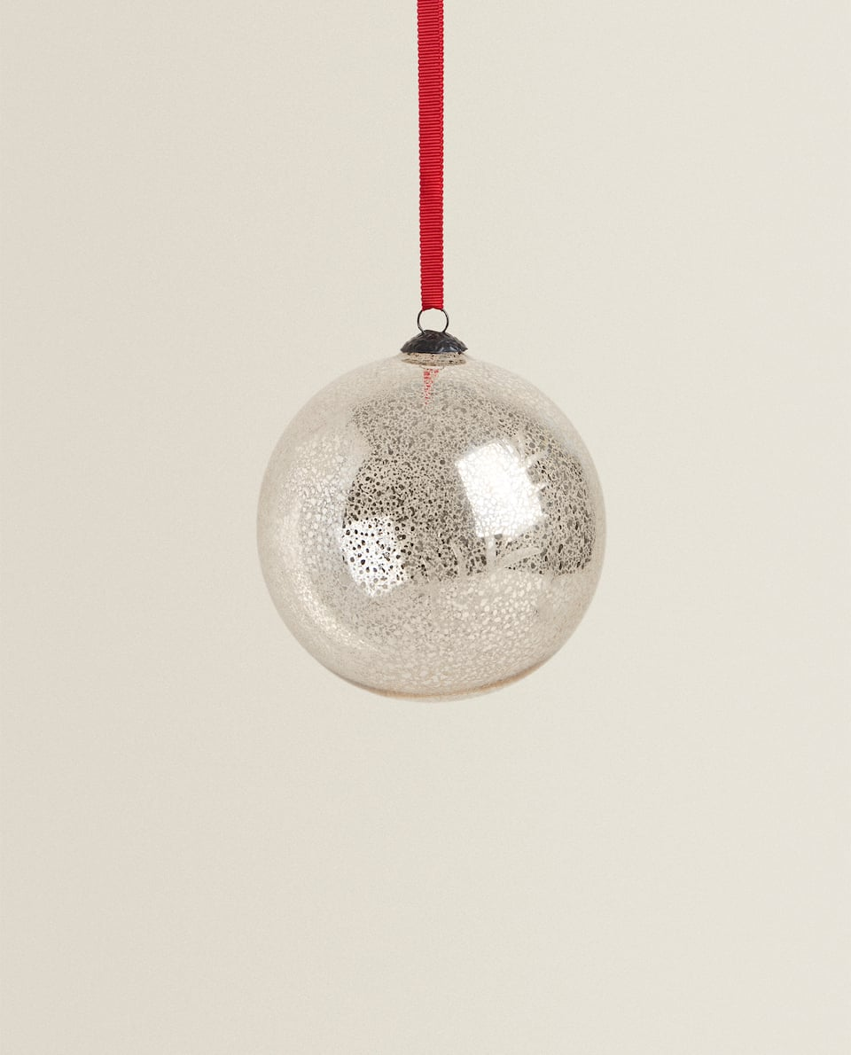 MERCURISED BOROSILICATE GLASS CHRISTMAS BAUBLE