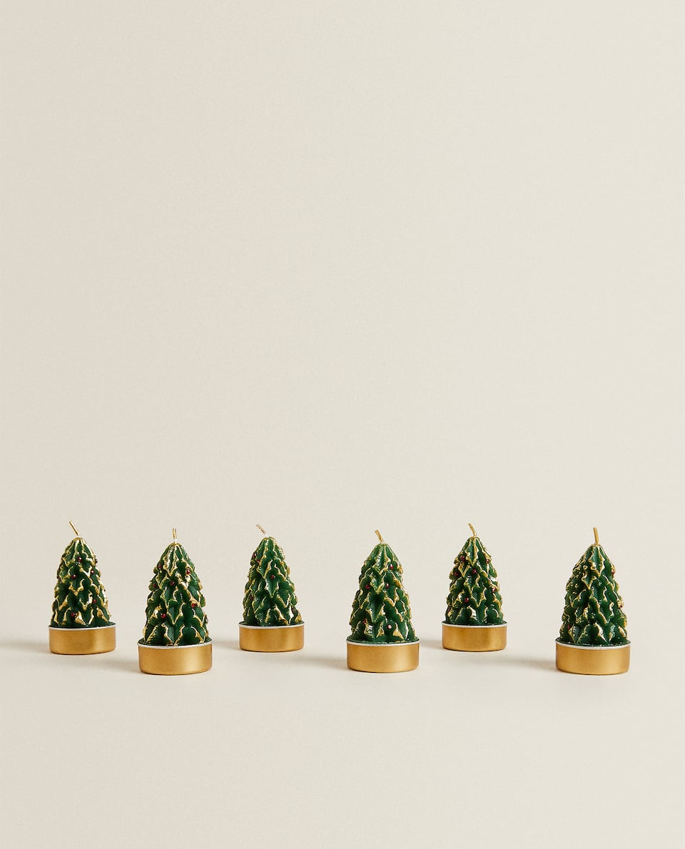 CHRISTMAS TREE CANDLE (PACK OF 6)