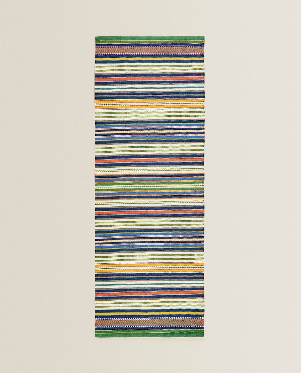 MULTICOLOURED STRIPED RUG
