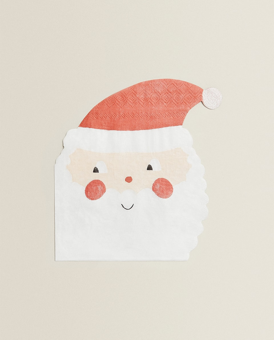 SANTA CLAUS CHRISTMAS PAPER NAPKINS (PACK OF 20)