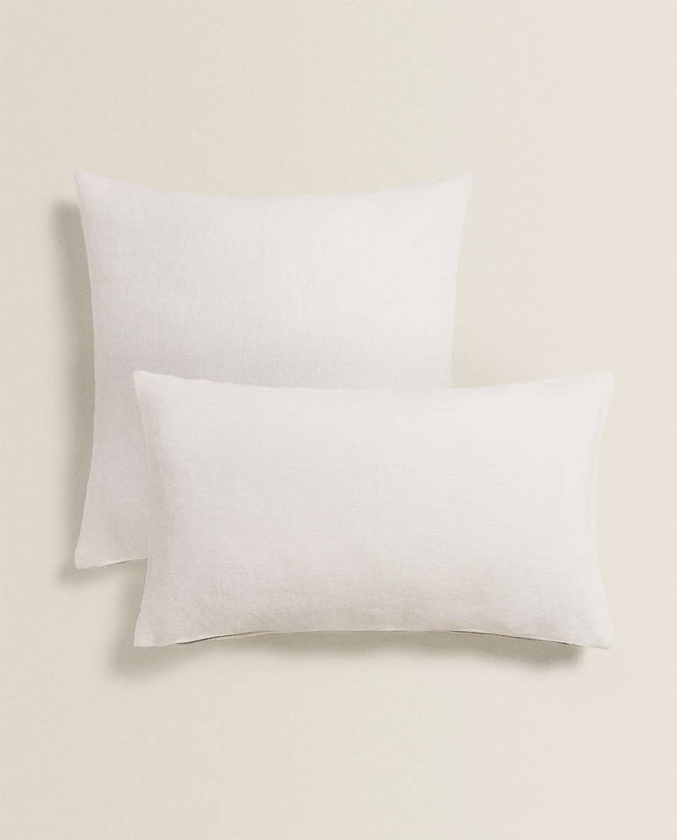 ZIPPED LINEN CUSHION COVER