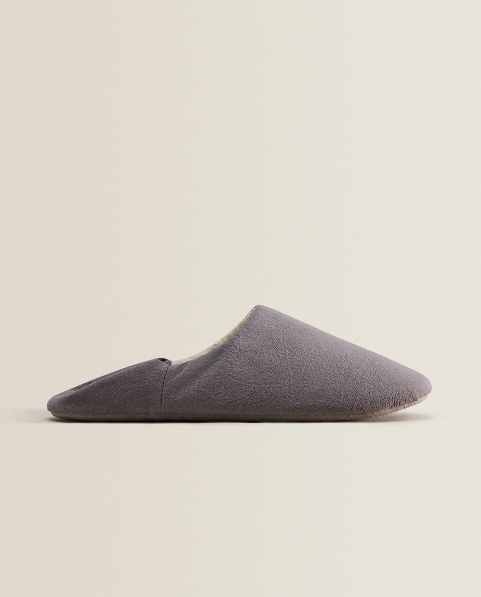 FABRIC BABOUCHE SLIPPERS