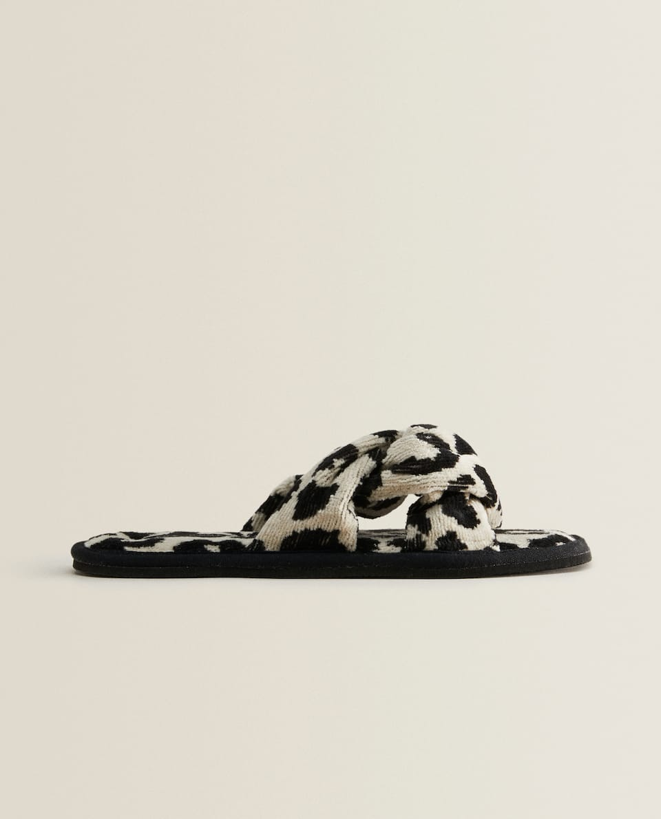 LEOPARD BATHROOM SLIPPERS