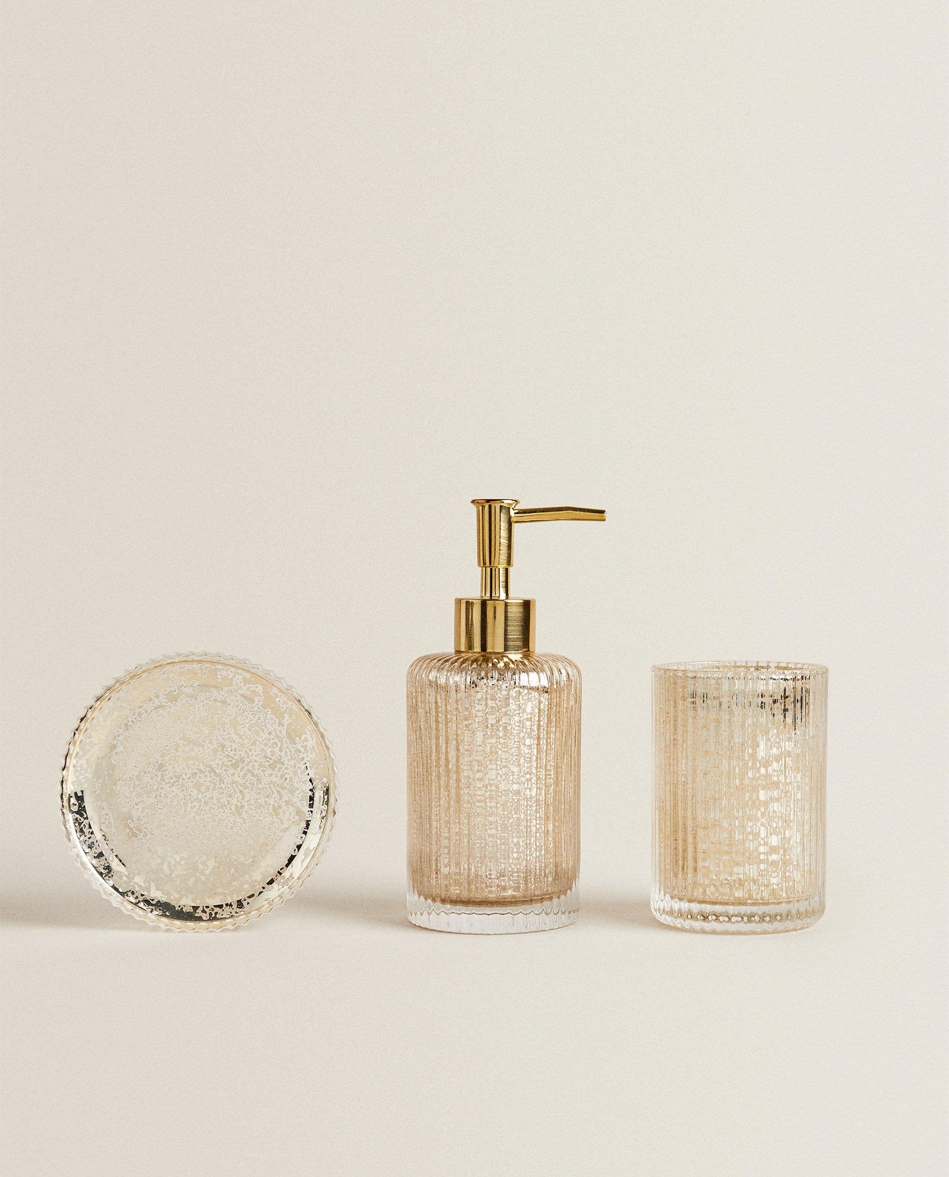 Mercurised Glass Bathroom Set Collection New Arrivals New Collection Zara Home Canada