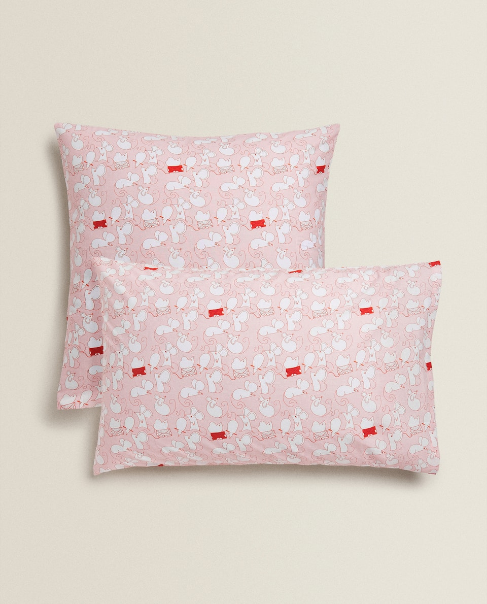 MICE PRINT PILLOWCASE