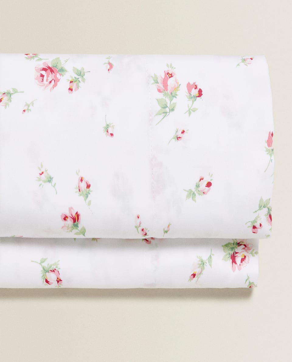 ROSE SATEEN FLAT SHEET
