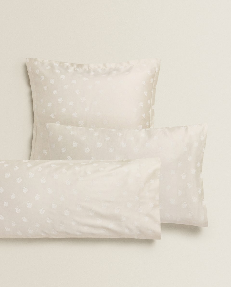 FLORAL PRINT SATEEN PILLOWCASE