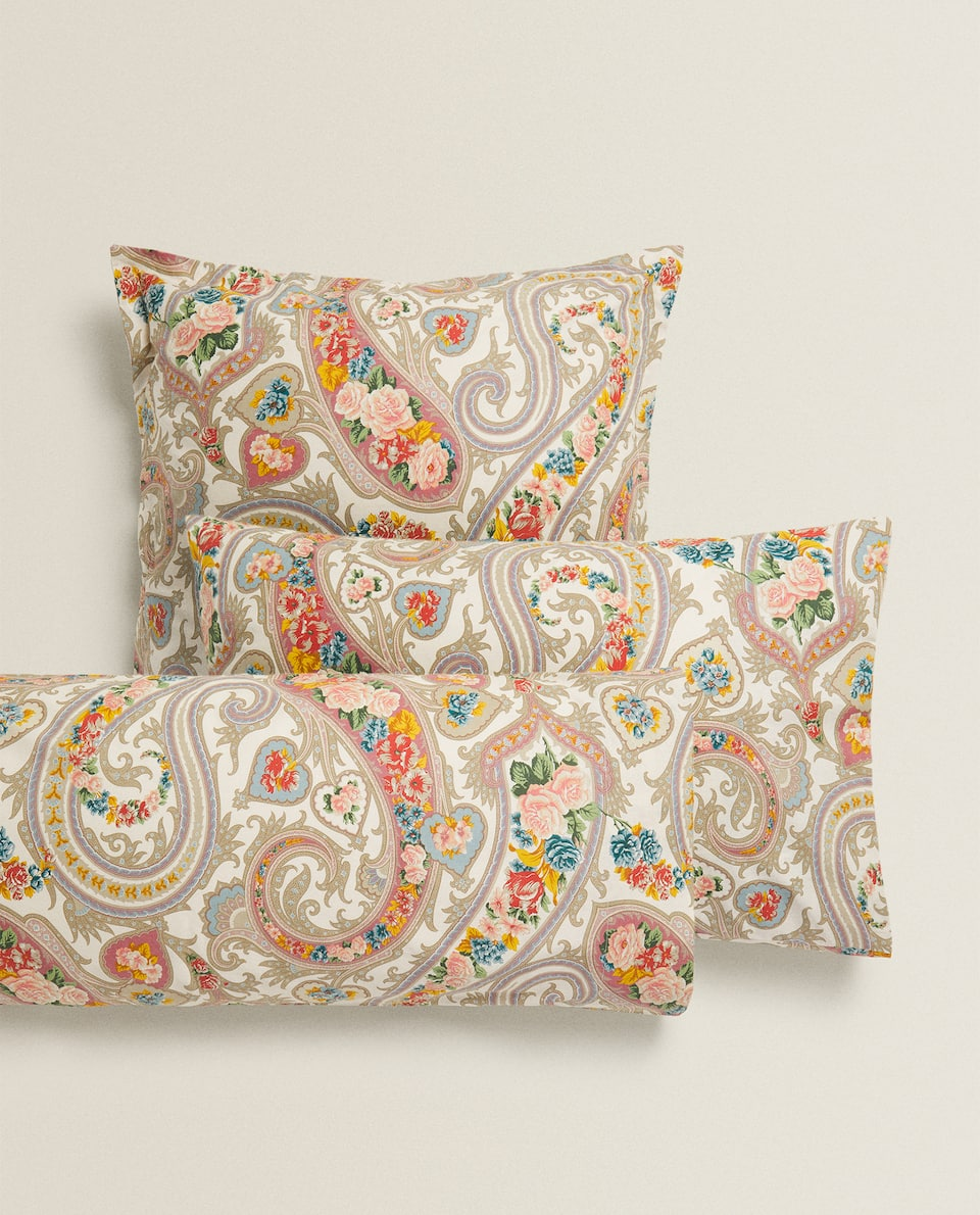 PAISLEY FLORAL PRINT PILLOWCASE