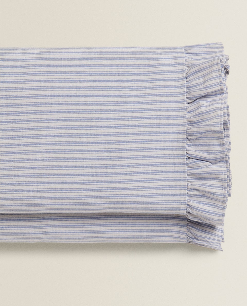 STRIPED AND RUFFLED FLAT SHEET