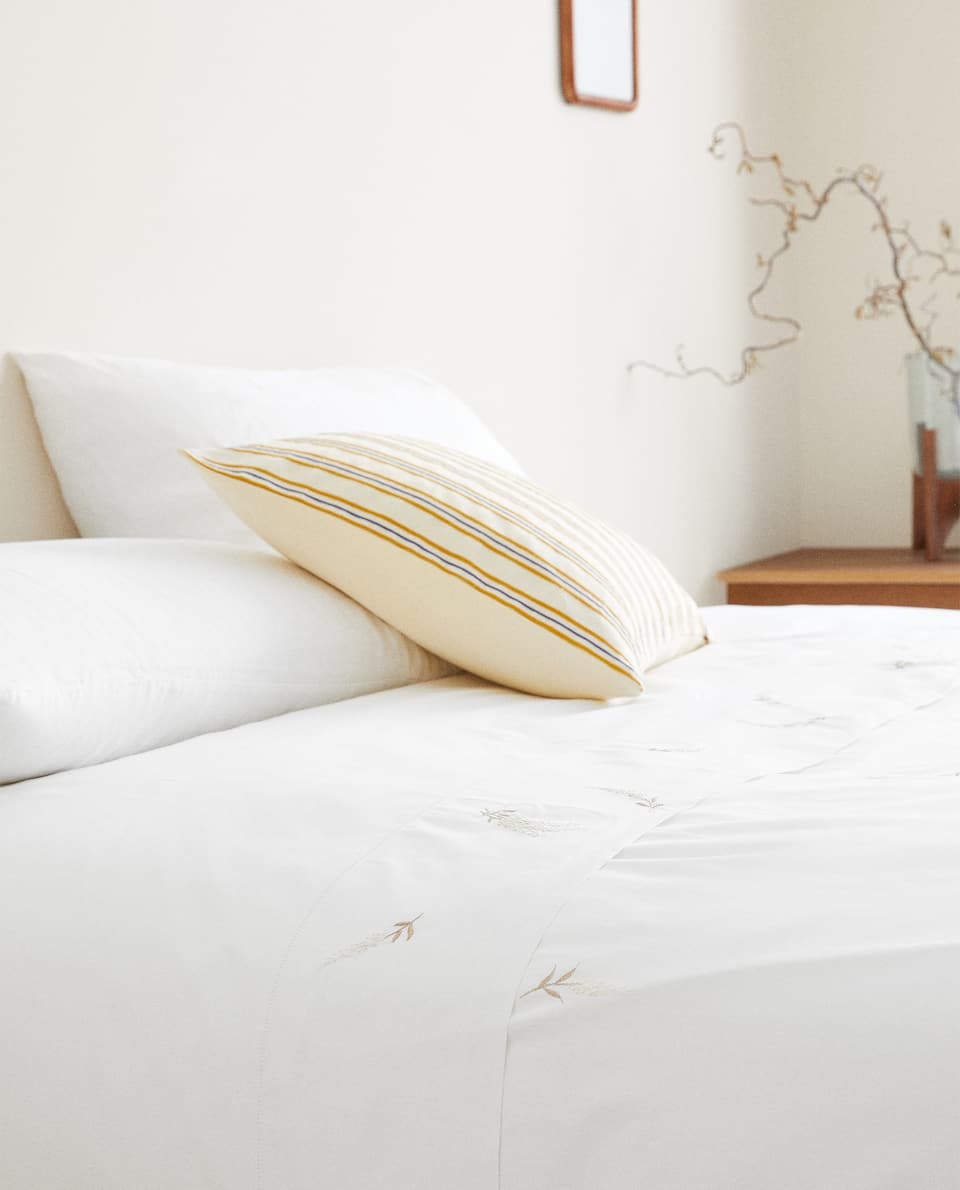 DUVET COVER WITH LAVENDER EMBROIDERY