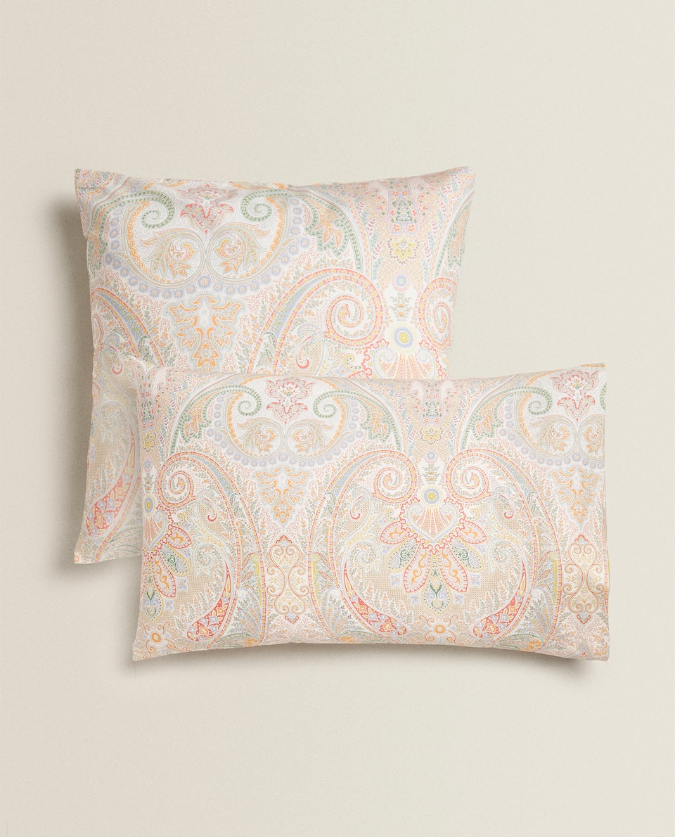 MULTICOLOURED PAISLEY PILLOWCASE