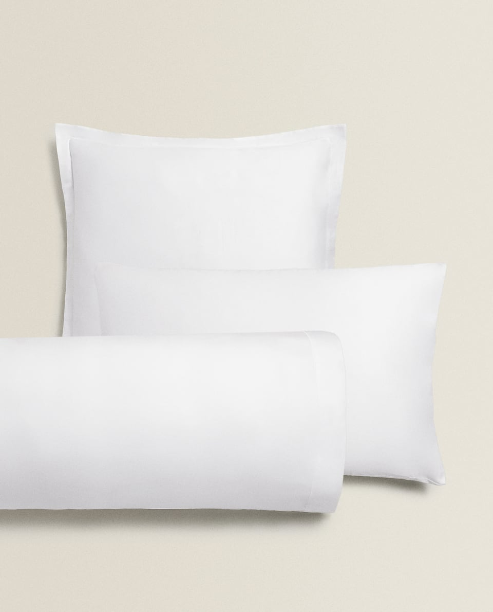 SATEEN PILLOWCASE WITH SCALLOPED EDGE (300 THREAD COUNT)