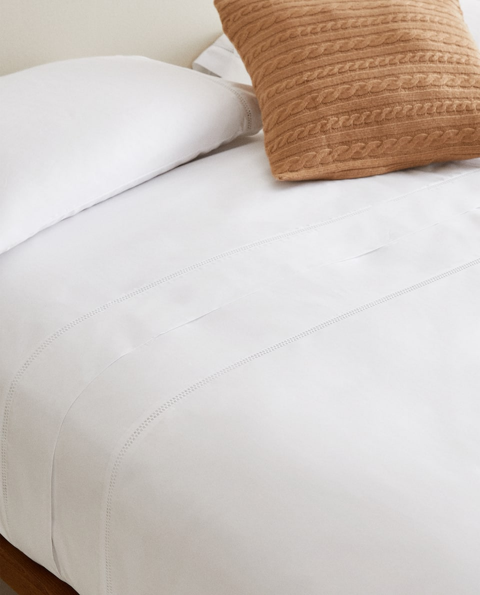 HEMSTITCHED DUVET COVER