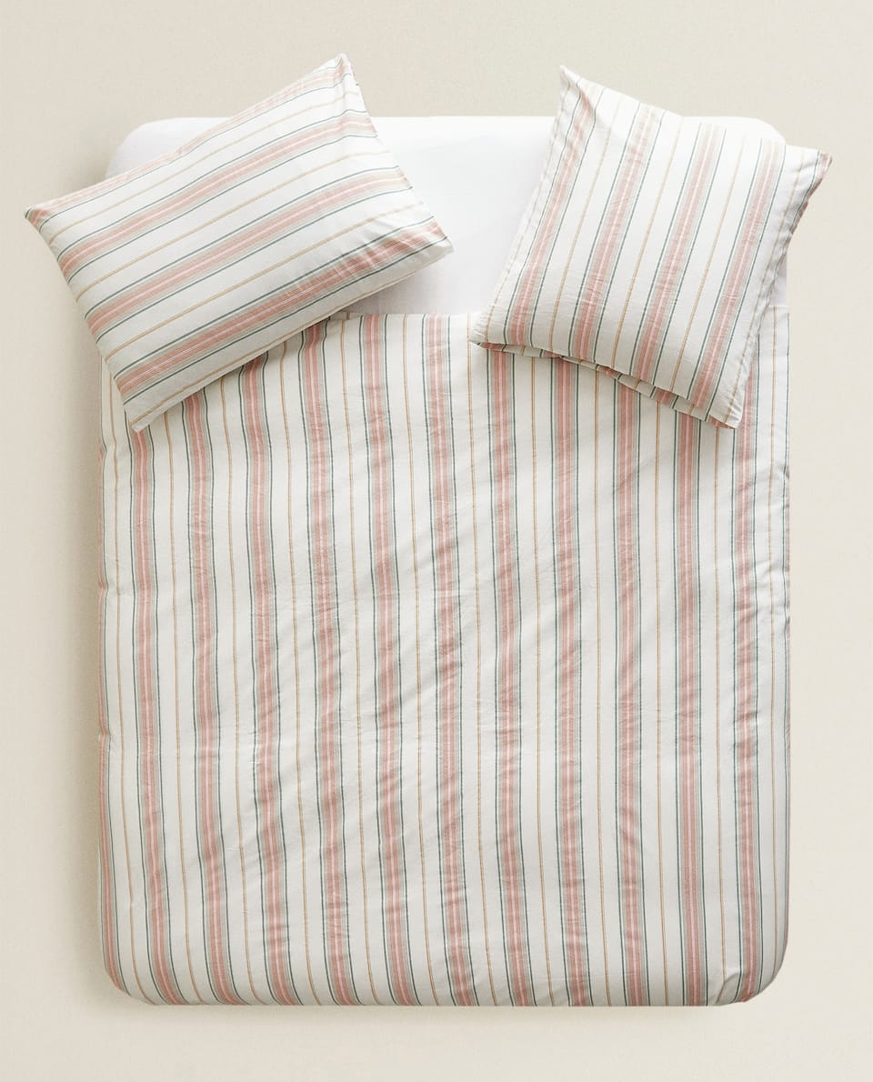 STRIPED DUVET COVER