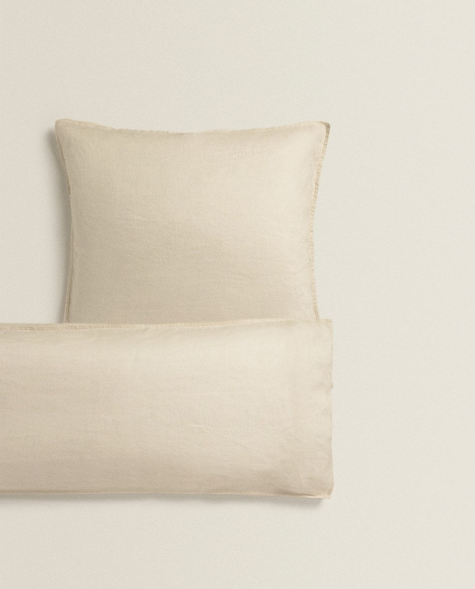 STONE GREY LINEN PILLOWCASE