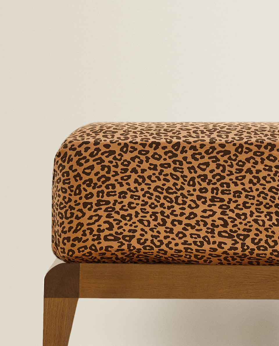 LEOPARD PRINT FITTED SHEET