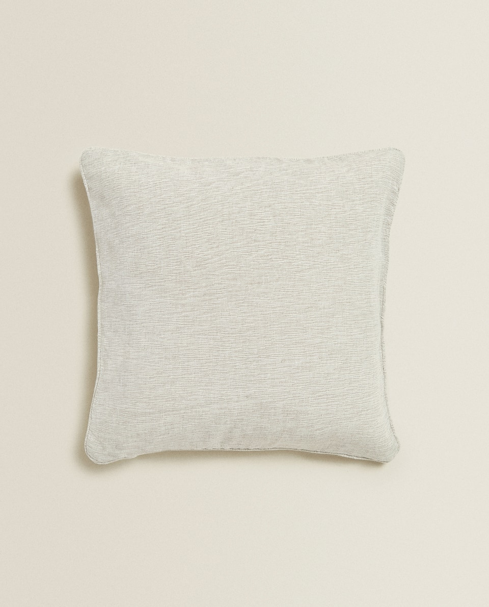 MULTI-USE MELANGE-EFFECT COTTON CUSHION COVER