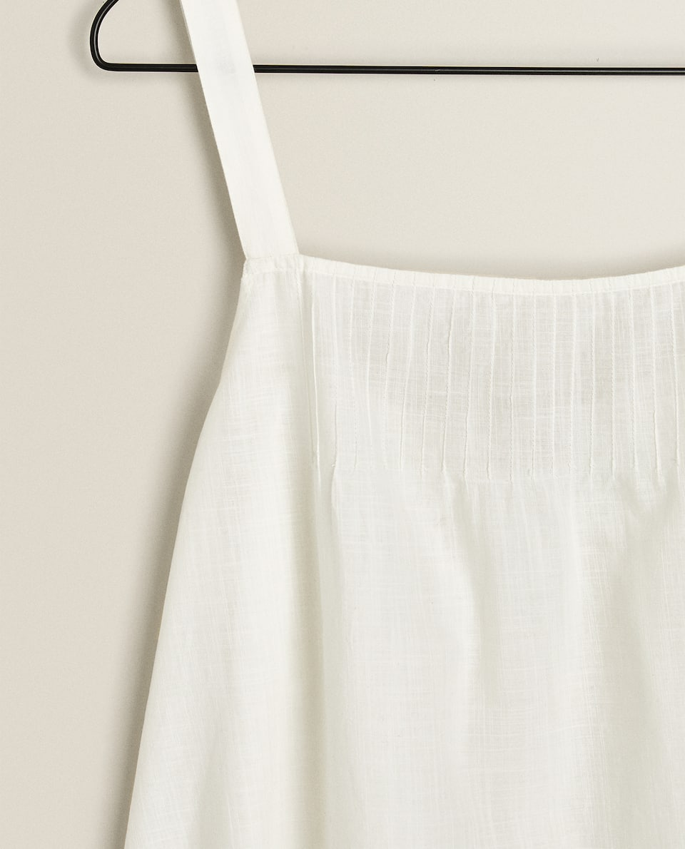 PLEATED NIGHTDRESS