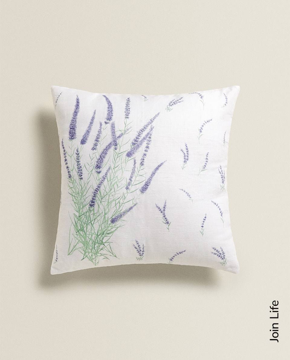 LAVENDER PRINT CUSHION COVER