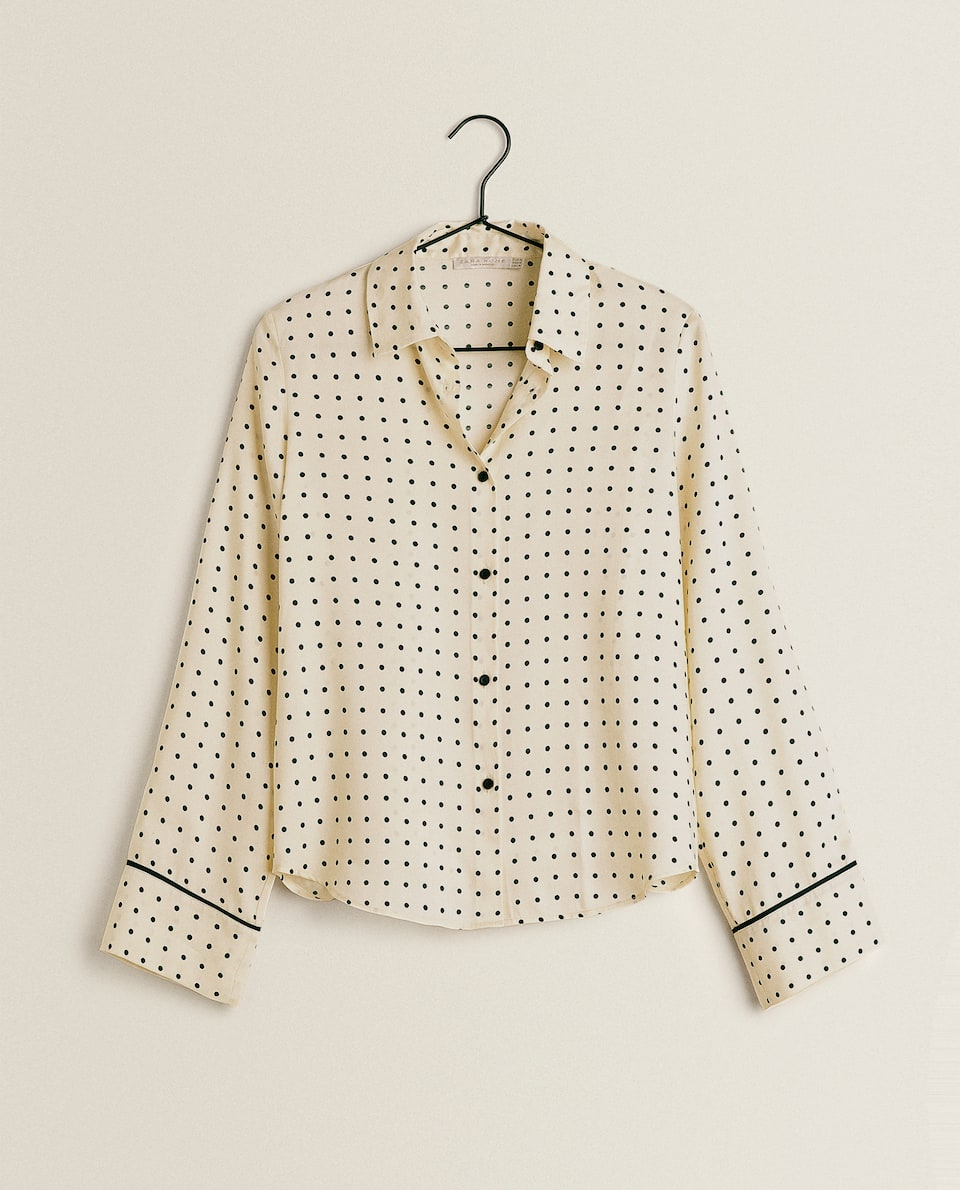DOTTED SATIN SHIRT