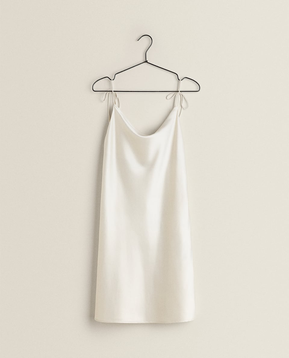 TIE-UP STRAP NIGHTDRESS