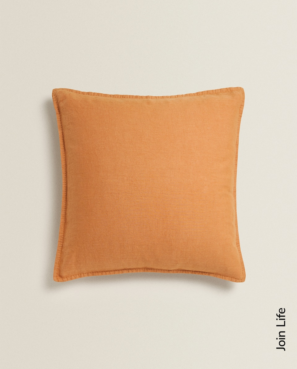 WASHED LINEN THROW PILLOW