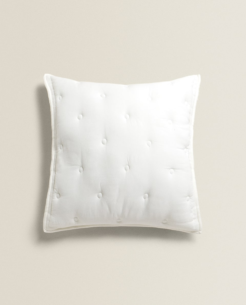 UPHOLSTERED EFFECT CUSHION COVER