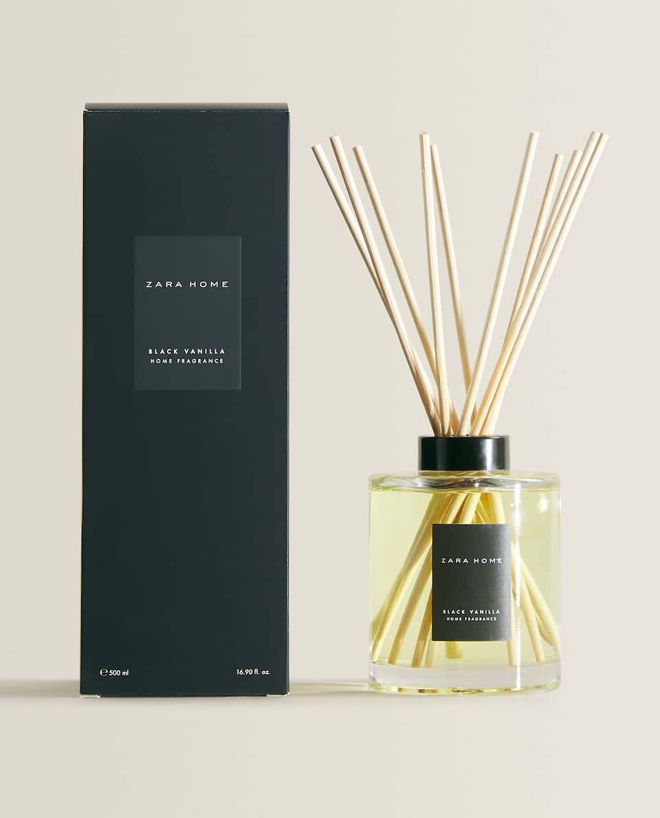 (500 ML) AMBIENTADOR EM STICKS BLACK VANILLA
