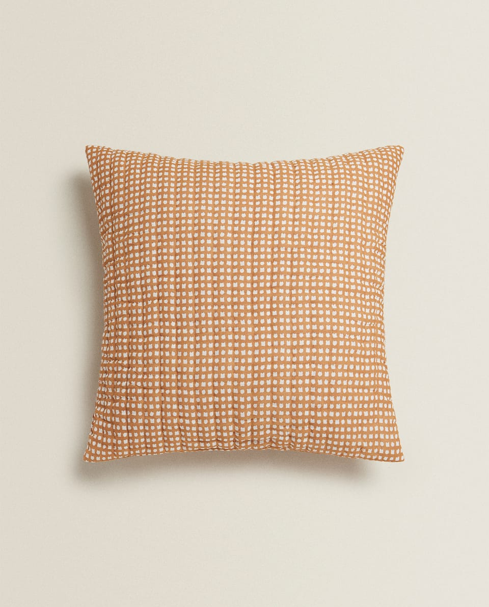 REVERSIBLE CHECKED CUSHION COVER