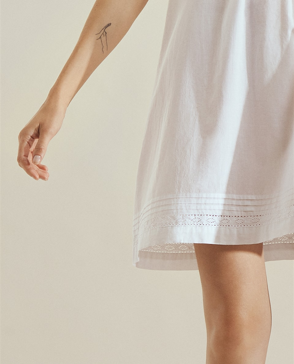BUTTON-UP NIGHTDRESS