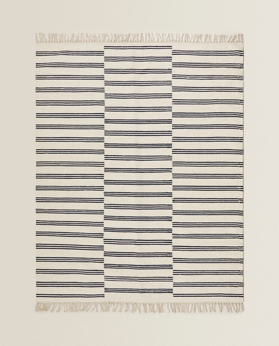 STRIPED WOOL RUG