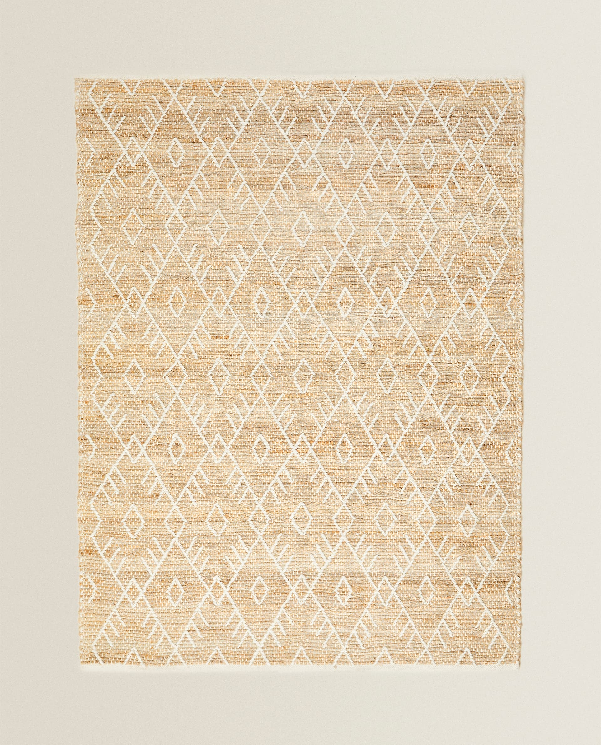 Embroidered Jute Rug Rugs Living