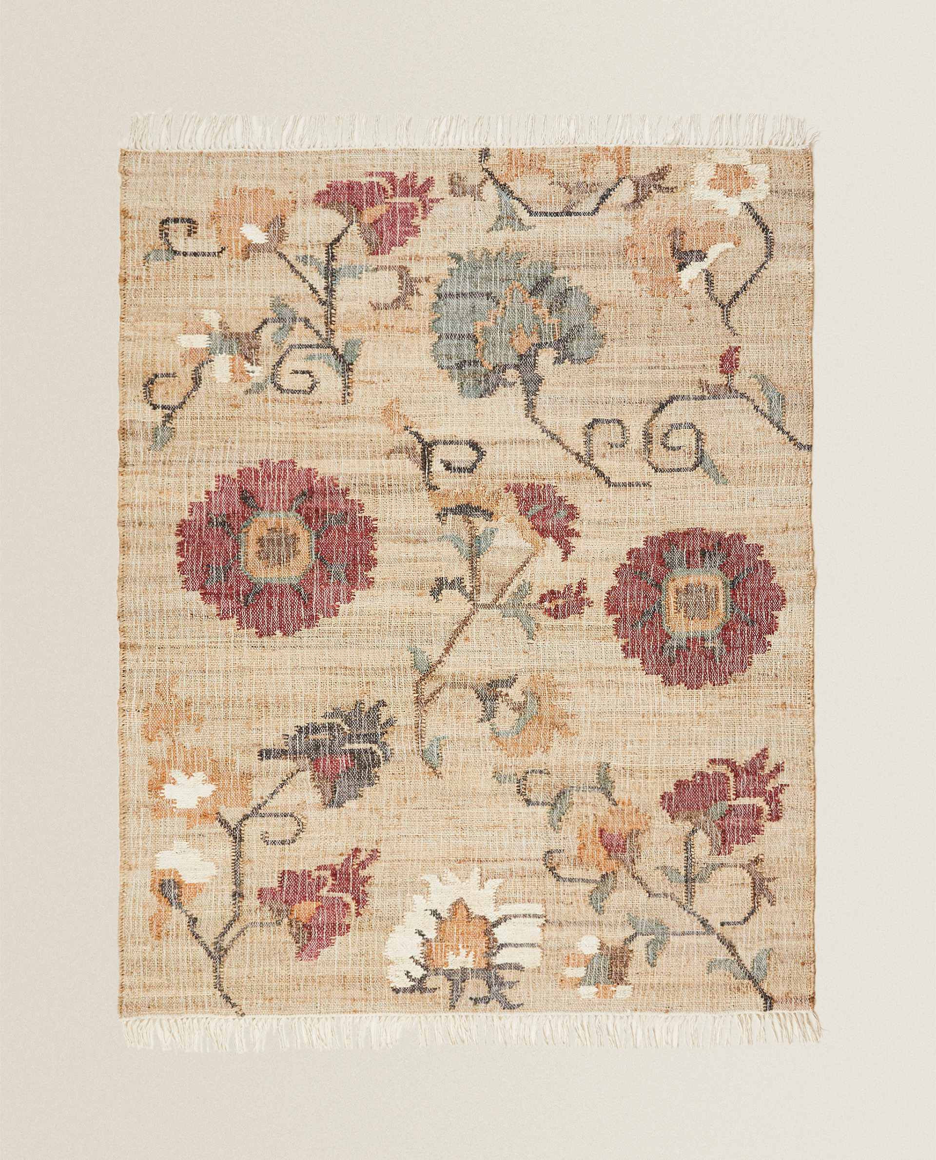 Floral Jute Rug Zara Home Greece