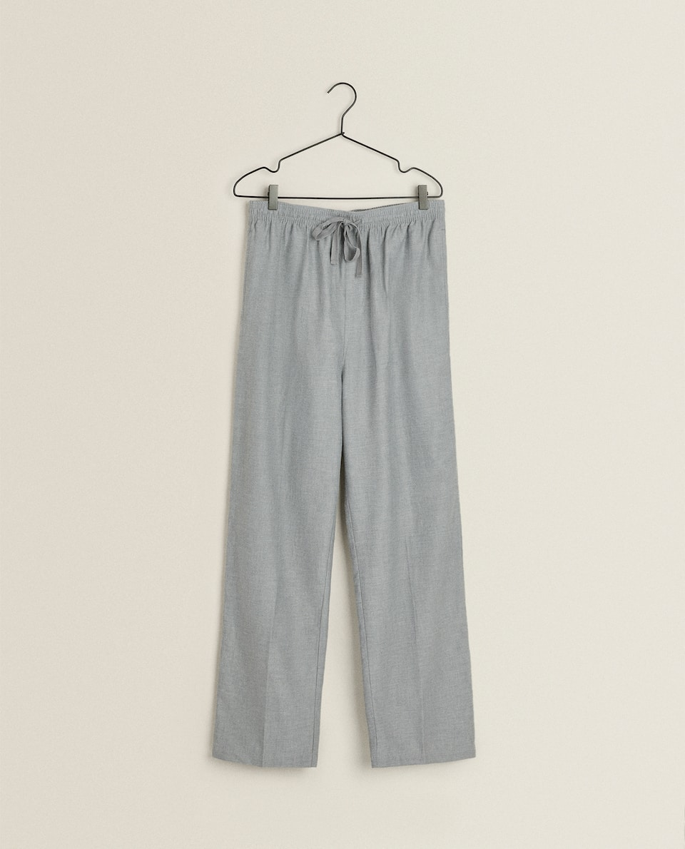 PLAIN FLANNEL TROUSERS