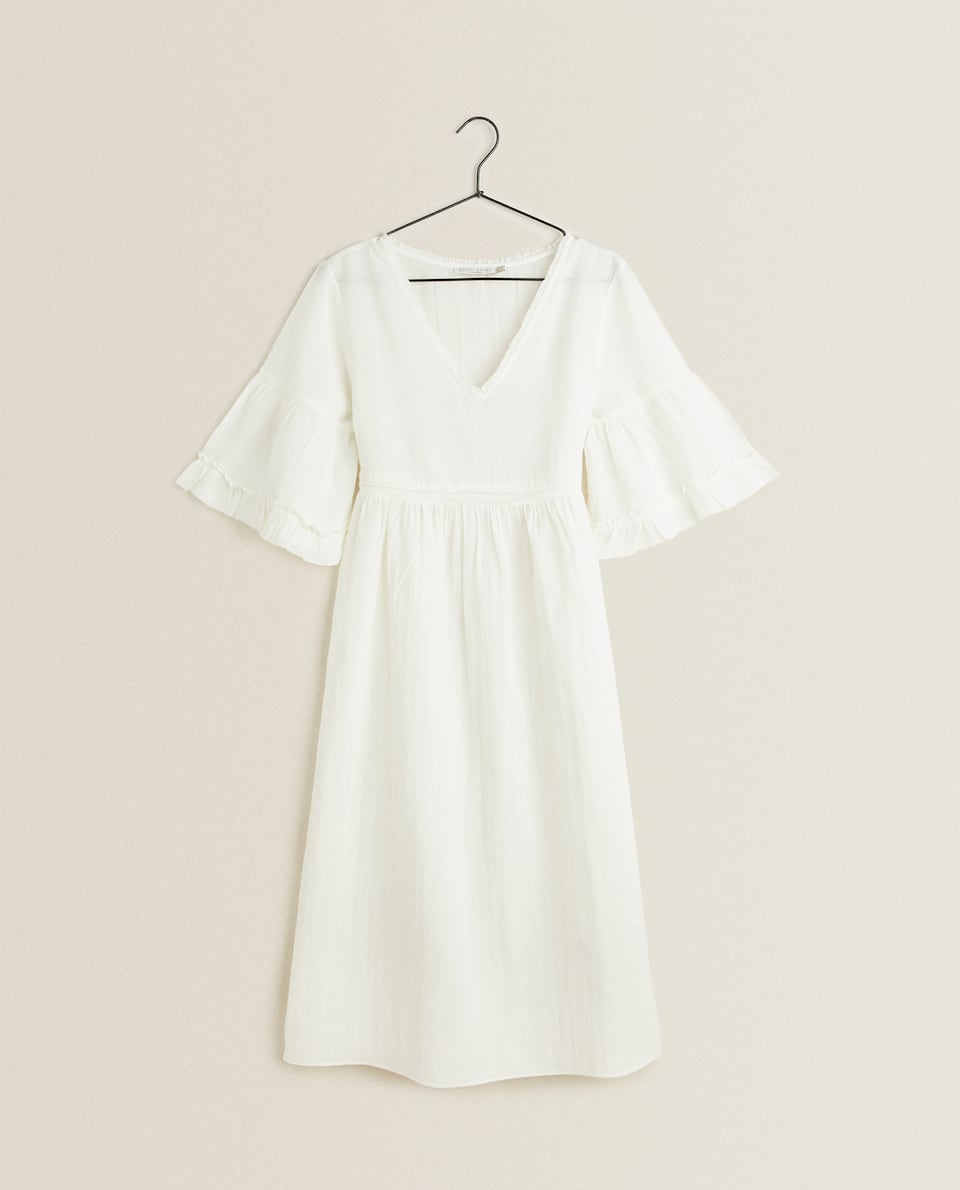 RUFFLED SLEEVE NIGHTDRESS