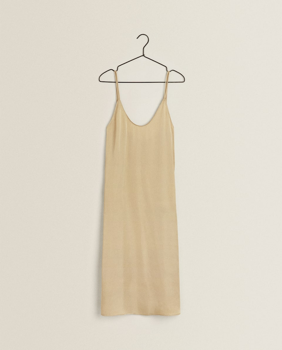 PLAIN SATEEN NIGHTDRESS