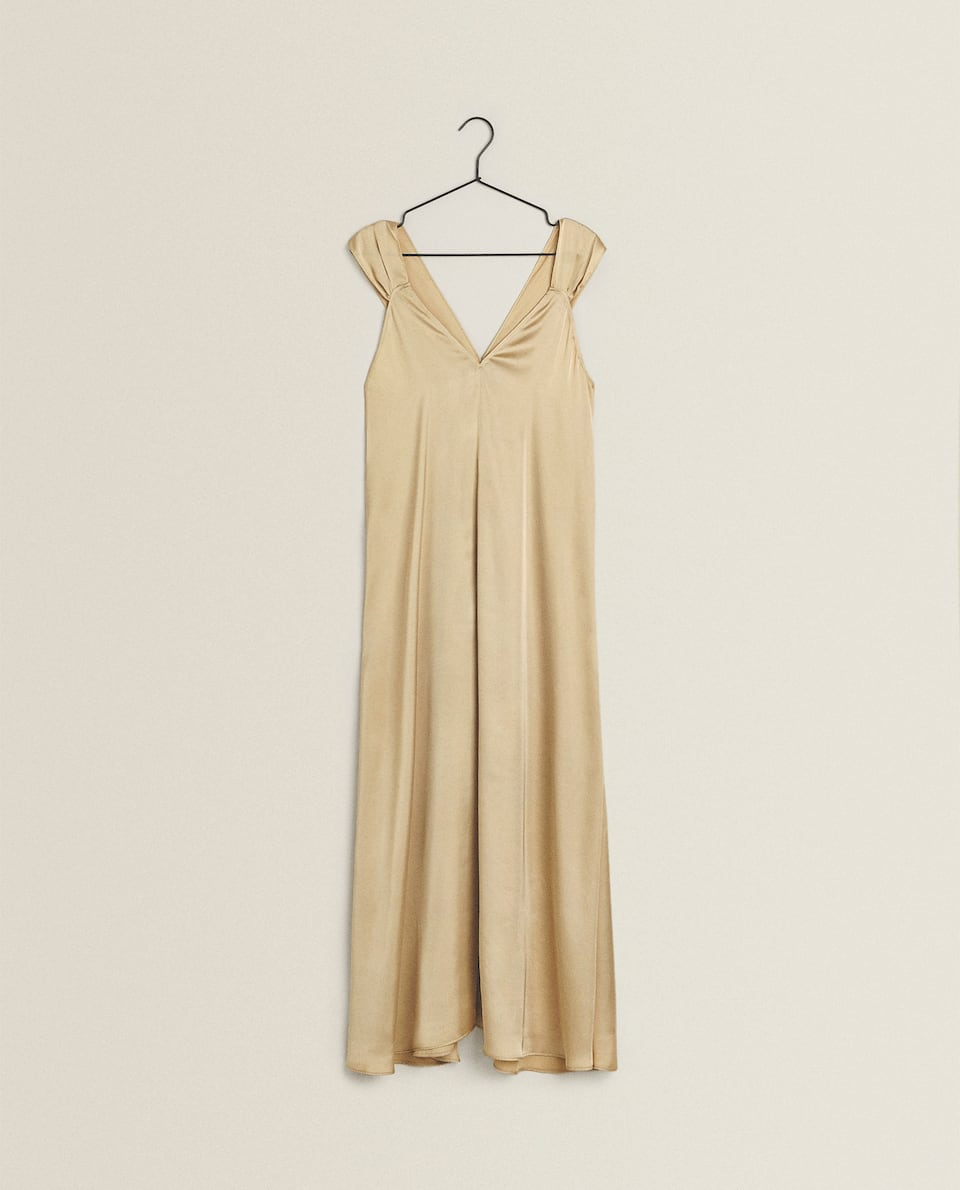 SATEEN NIGHTDRESS WITH WIDE STRAPS