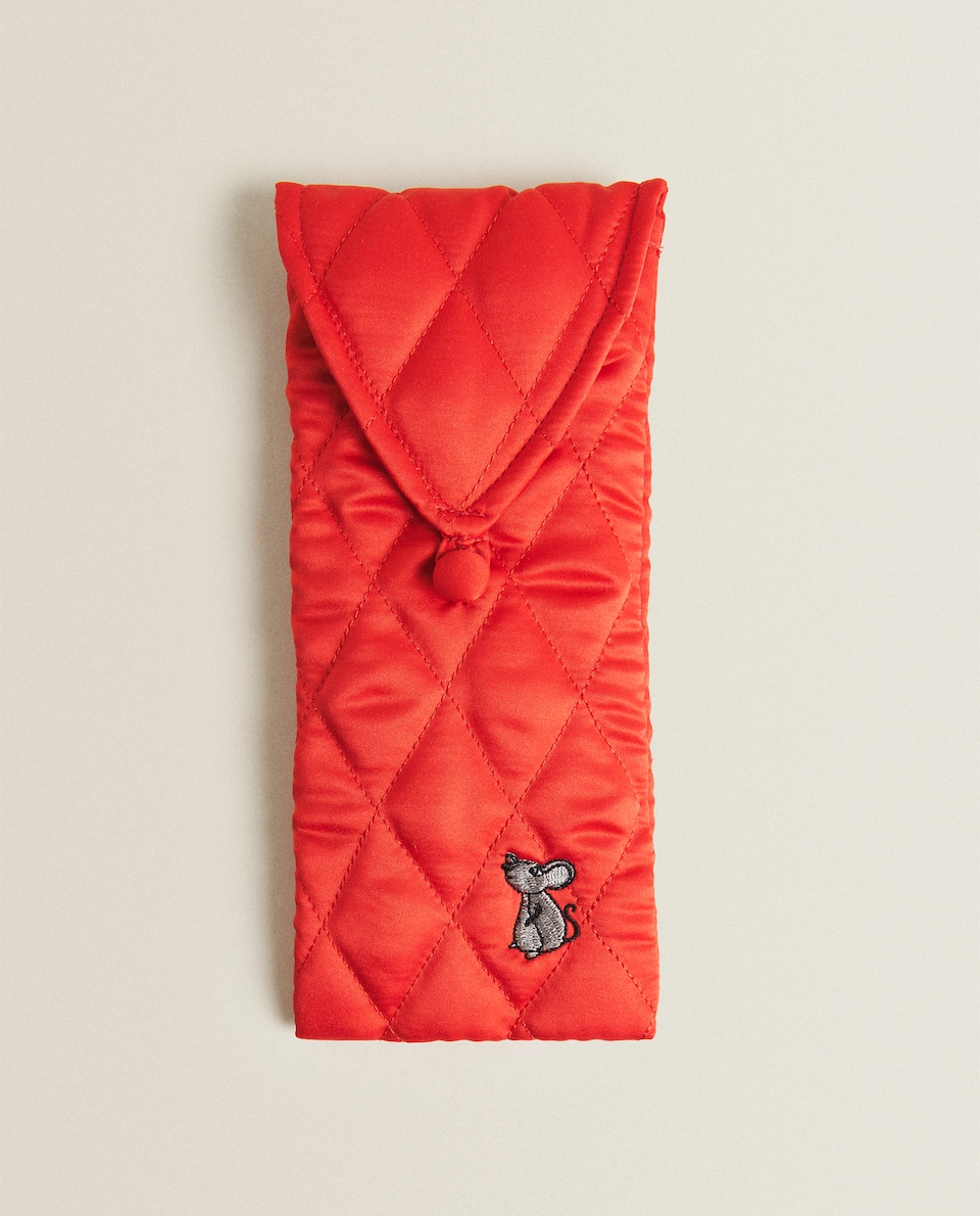 QUILTED SATIN CLUTCH