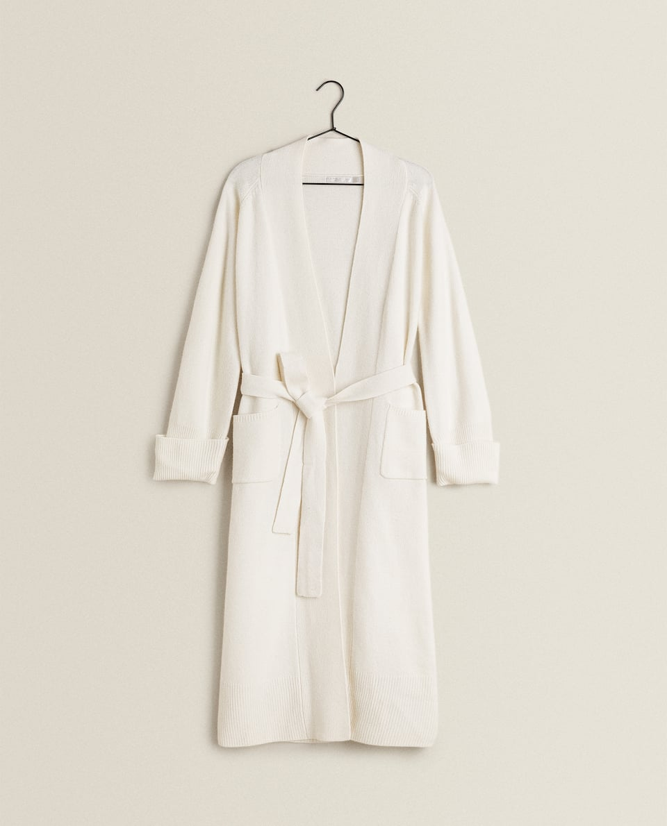 LONG KNIT DRESSING GOWN