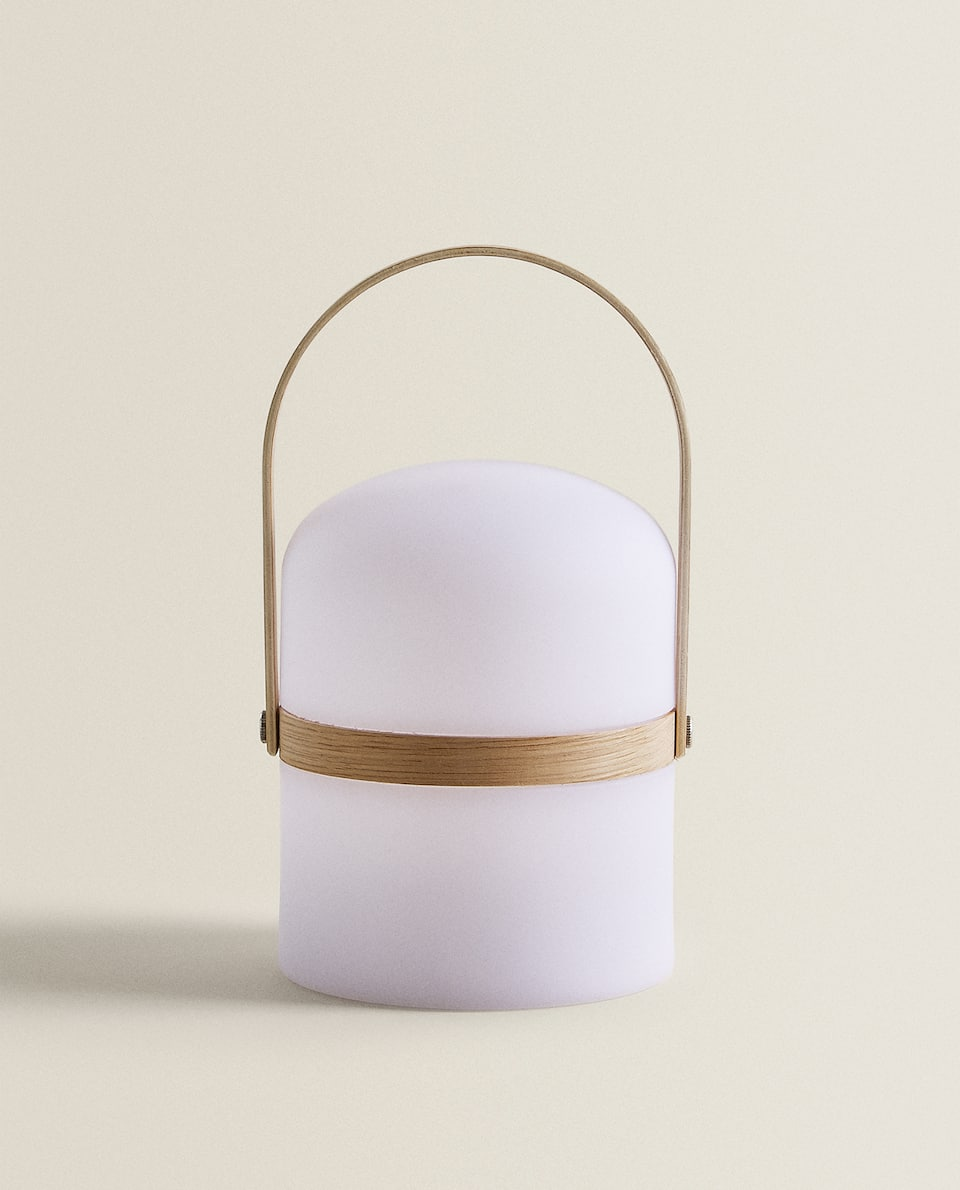LAMP WITH A BAMBOO HANDLE