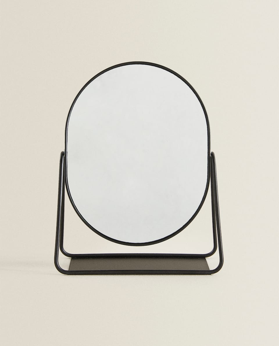 BLACK BORDER MIRROR WITH STAND