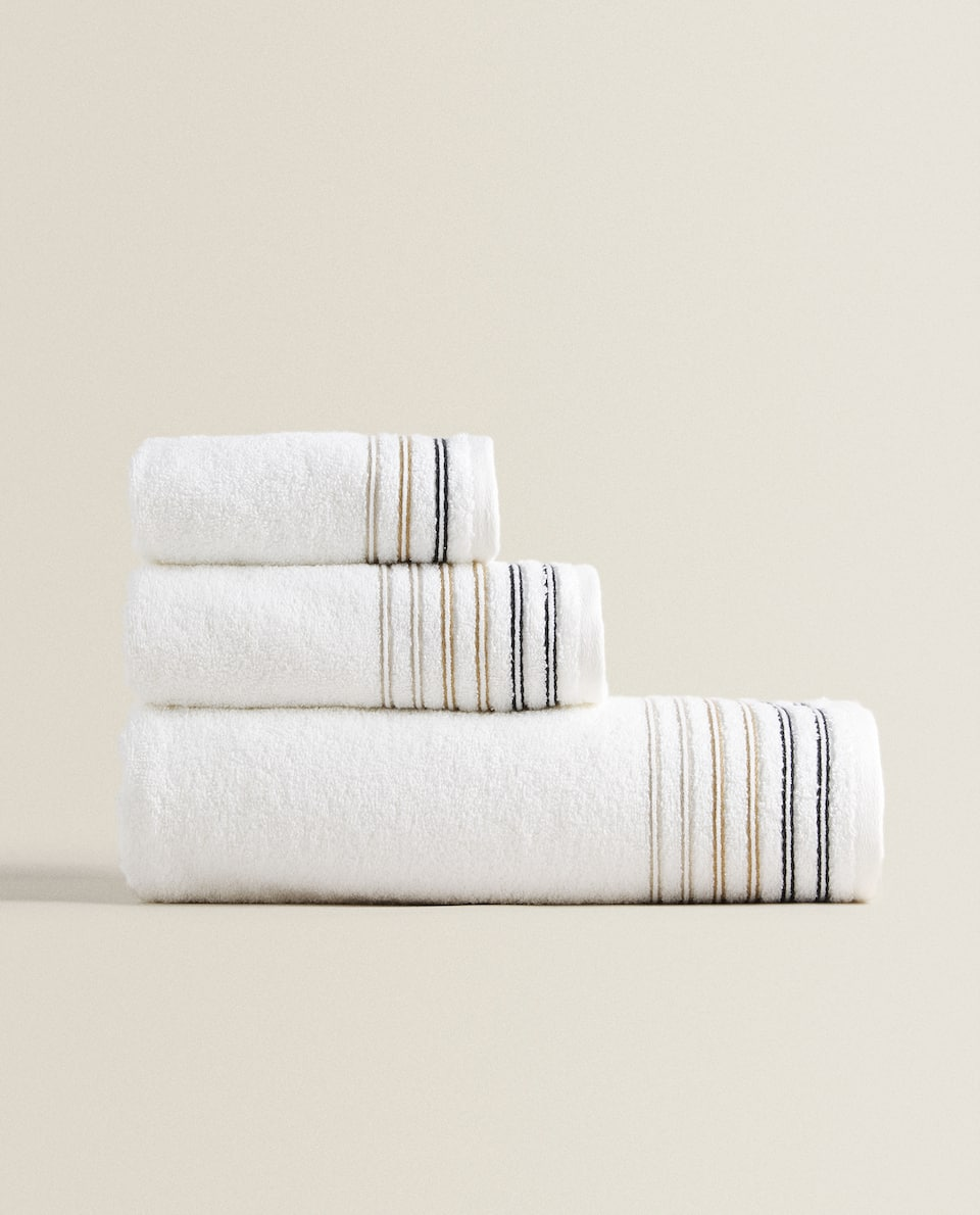 MULTICOLORED STRIPE TOWEL