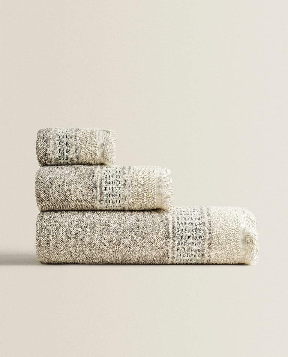 MELANGE-EFFECT TOWEL